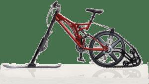 снежный велосипед с приводом