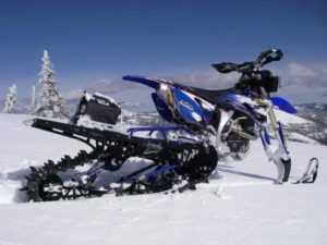 комплект для превращения мотоцикла в снегоход