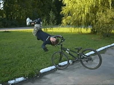 Как заехать на бордюр на велосипеде?