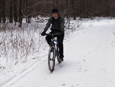 Катаемся на велосипеде зимой. Как получить удовольствие от катания в плохую погоду?