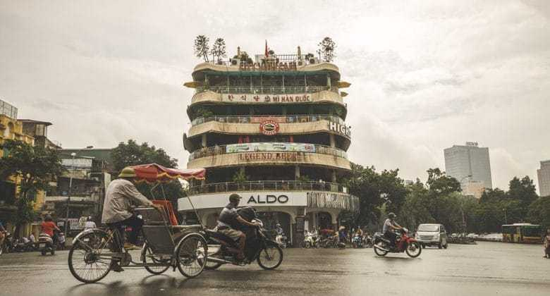 велорикша в городе