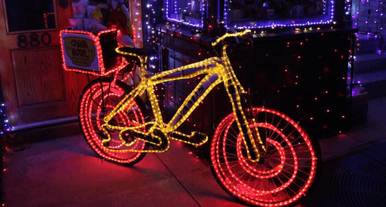 велосипед на новый год