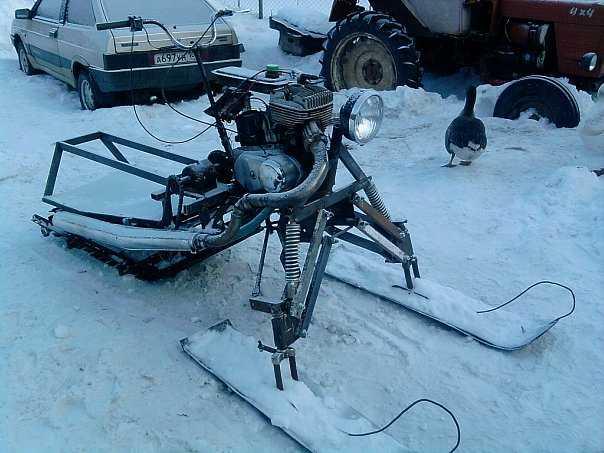 снегоход из мотоцикла
