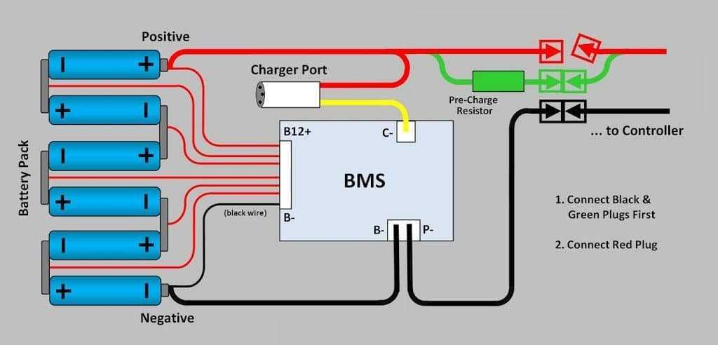 схема аккумулятора электровелосипеда