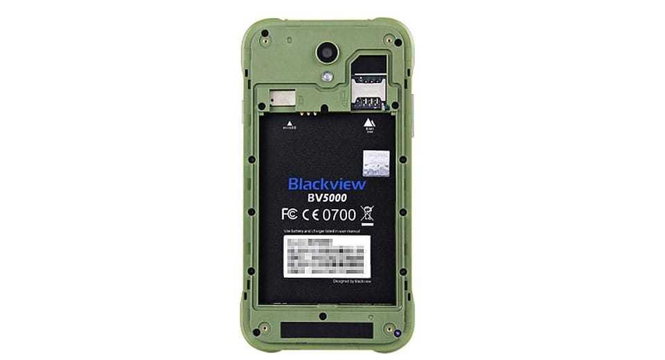 bv5000 под аккумулятором