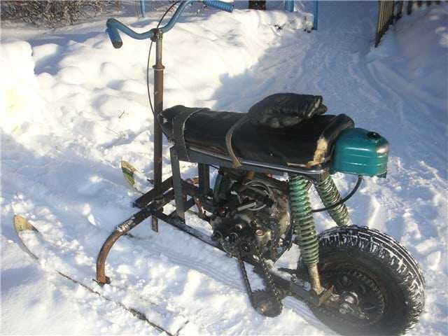 Как своими руками сделать снегоход из бензопилы