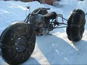 снегоход на колесах