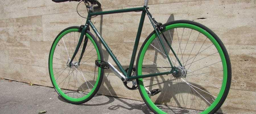 Зеленый велосипед