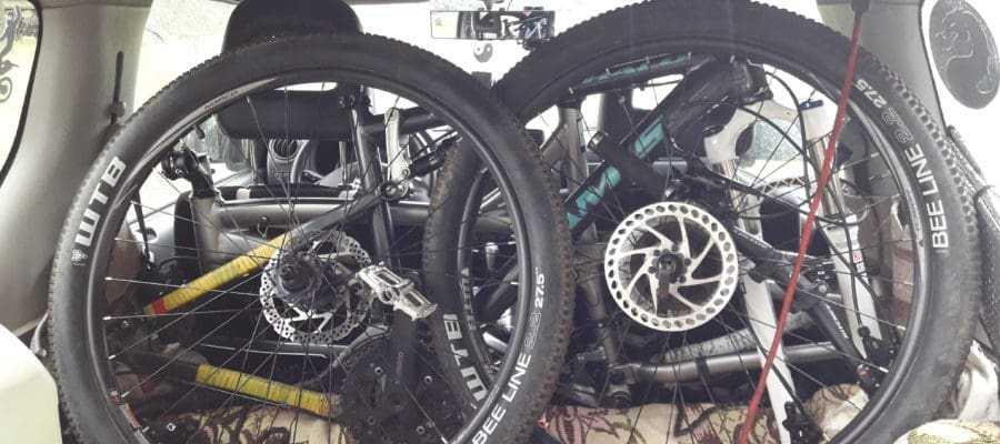 велосипед в Suzuki Jimny