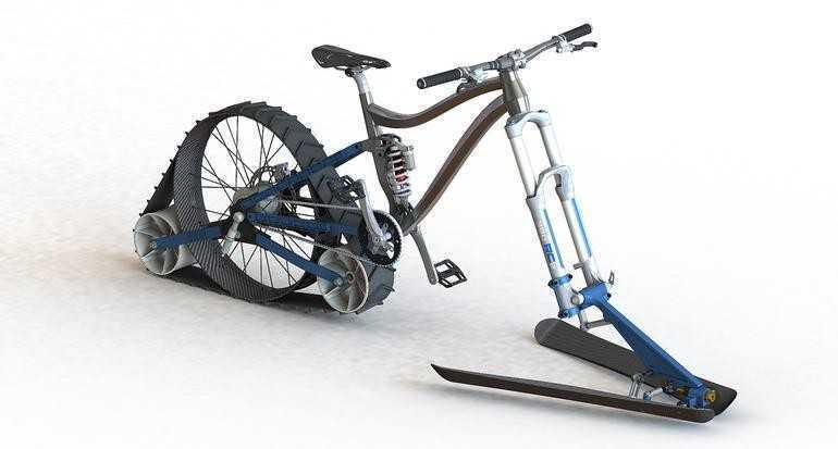 велосипед на гусенице для снега