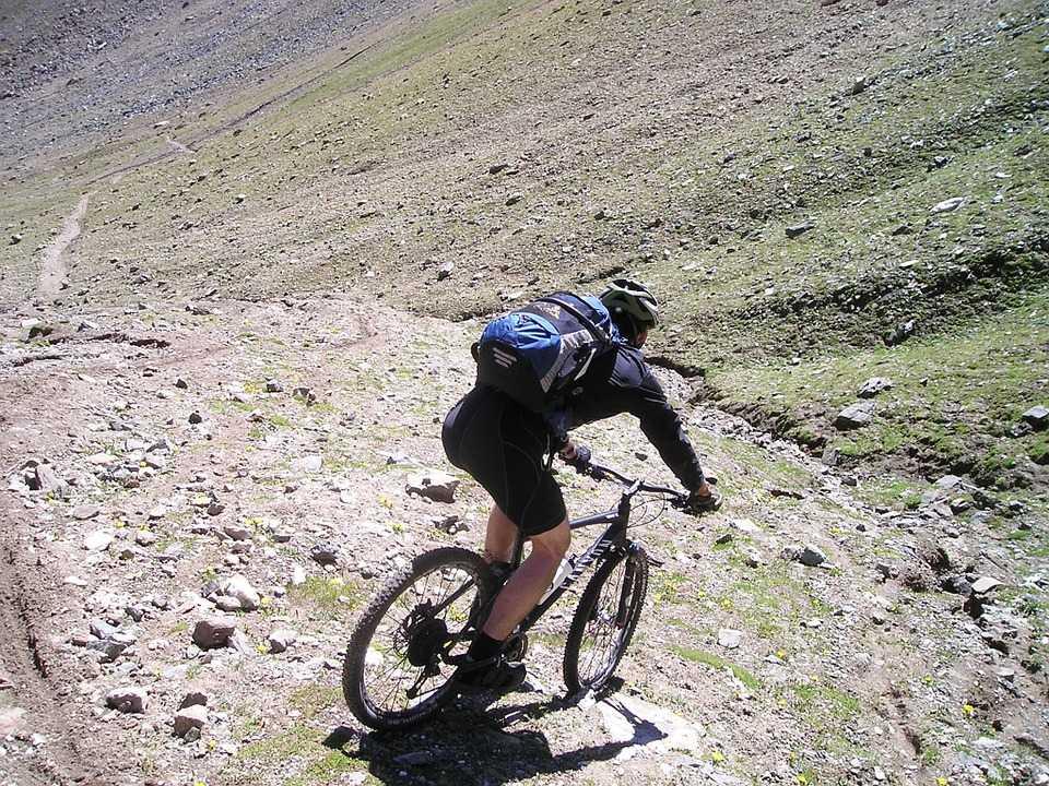 Спуск на велосипеде